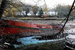 épave de bateau dans le Golfe du Morbihan - chambres d'hôtes Baden