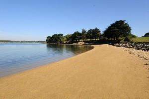 plage déserte - maison d'hôtes Golfe du Morbihan